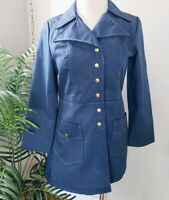 Vintage 70's NWT Trench Coat Water Resistant Disco Collar Rain Coat M/L