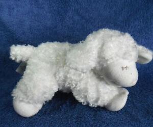 *2107* White Baby GUND lamb Winky rattles #058133 - 18cm - plush