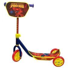 Spiderman 3 Wheel Scooter Anti Slip Footplate Rubber Grip Handles Ideal Gift