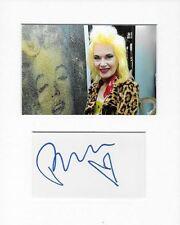 More details for pam hogg fashion designer genuine authentic autograph signature and photo aftal