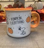 Peanuts - Snoopy Fall PUMPKIN EVERYTHING - Large Coffee Mug - Thanksgiving