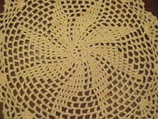 """6 PCS 12"""" Round   Crochet Lace Doily COLOR BEIGE 100 % COTTON COLOR BEIGE"""