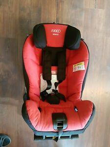 Axkid Minikid Reboarder Rückwärtssitz rot Kindersitz 9-25kg Schonbezug türkis