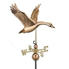 Good Directions Feathered Goose Weathervane - Polished Copper 9663P