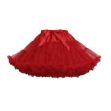 14 Colors Fluffy Adult Women Skirt Tutu Party Dance Teenage Petticoat Mini Dress
