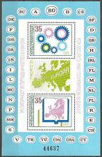 Bulgaria-CSCE Conference MINT 1981 Block 117 MI. 3048/49