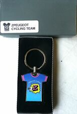 RETRO PRO BICYCLE RACING TEAM TOUR DE FRANCE KEY RING Z Peugeot Vetements