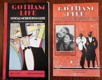 Gotham Life New York City Tourist's Guides 1930 & 1936 Art Deco magazine lot x 2
