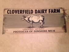 Natural Home Wood Cloverfield Dairy Farm Wall Decor: Cow/Milk Farmhouse Country