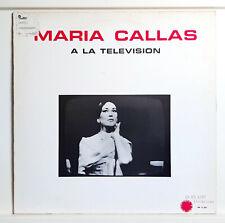 MARIA CALLAS - A LA TELEVISION  - HARMONIA MUNDI - ED. FRANCE 1982