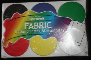NEW SEALED SPEEDBALL ART PRODUCTS 45P400 FABRIC SCREEN PRINTING STARTER SET