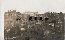 WW1 shell damaged buildings in Peronne France