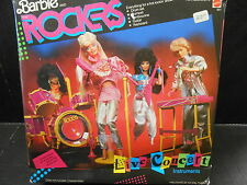 1986 Barbie and the Rockets live in concert musical instruments set  MISB