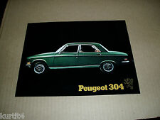 1971 Peugeot 304 sedan sales sheet brochure dealer literature