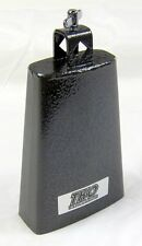 "Cowbell 7"" Pro Black Crackle Finish with Clamp Free Usa Ship"