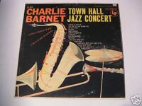 Charlie Barnet Town Hall Jazz Concert 1950s Mono LP