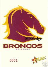 2005 SELECT CLUB LOGO JUMBO CARD: BRISBANE BRONCOS #1/1500 FIRST ONE MADE 1/1