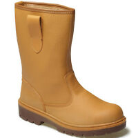 DICKIES STEEL TOE CAP SAFETY RIGGER BOOTS SIZE UK 3 - 13 FA23350 LINED WORK TAN