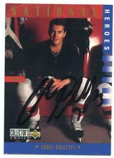 CHRIS PHILLIPS USA AUTOGRAPH AUTO 97 UD COLLECTORS CHOICE HEROES #301 *38119