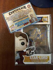 Funko Pop! Marvel - GOTG - Star Lord SIGNED by Chris Pratt with COA