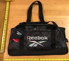 Reebok Twilight Med Duffle Gym Weekender Duffle Bag Black Travel