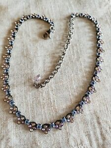 """Sorrelli Necklace With Pink,peach,blue And Grey adjustable lengh from 15-19"""""""