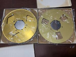 "Soundcraft Ampex Reel To Reel Tape Reels 10"" 1/4 Tape Gold"