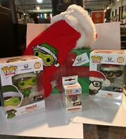 Overwatch Tracer Mei Funko Pop! Gamestop Holiday Christmas Winter Wonderland Box