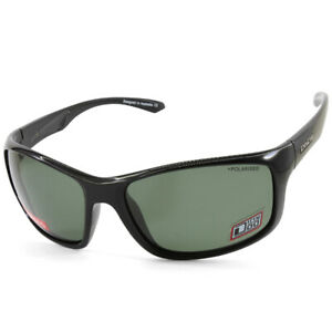 Dirty Dog Splint 53430 Polished Black/Green Polarised Sports Sunglasses