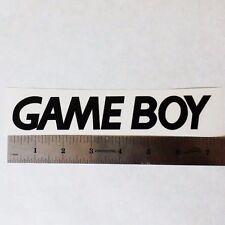 NINTENDO GAME BOY Vinyl DECAL STICKER BLK/WHT/RED Logo Window SNES Super Mario