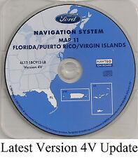 2005 2006 2007 Ford Escape Navigation Map NEW 4V Cover: Florida Puerto Rico