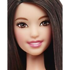 2016 Barbie NUDE Fashionistas TALL White & Pink Pizzazz Doll Dark Hair For OOAK
