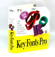 NEW SEALED Key Fonts Pro CD-ROM Software Windows 3.1 Mac Vtg Retro 1994 Softkey