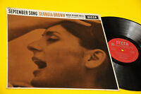 Georgia Brown LP September Song Orig UK 1962 EX+ Top Jazz Decca Seriesware