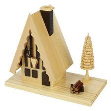 Standing Wooden Hunter Cabin Incense Burner Smoker Made In Germany