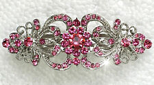 Edle Haarspange mit Pink-Rosé Swarovski Kristallen NEU +++ Mehr im Shop!