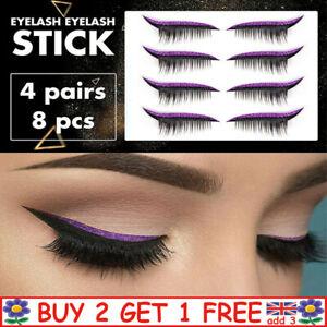 Eyeliner & Eyelash Stickers Reusable Glitter Eyeliner Fake Eyelashes Stickers F