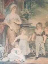 Belle Gravure Young Fin XVIIIe Peint Par Hoppner  Domestic Happiness Enfant