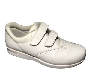 SAS Me Too White Leather Double Hook and Loop Strap Tripad Comfort 9.5 W