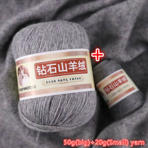 100% Cashmere Yarn for Hand Knitting Scarf Sweater Cardigan Baby 50+20g/set