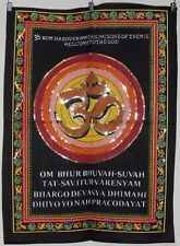 * Indian Om Sequined Wall Hanging * Fair Trade * Small * Brown Om