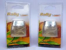 (€ 7,49/10 G) 2x RALLY CAR GEL Amber & Wood PASTIGLIE RICARICA DEODORANTE AUTO PROFUMO GEL AIR