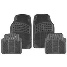4 Pcs Heavy Duty Universal Black Rubber Car Mat Set Kit Non Slip Grip Van Mats