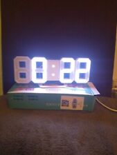 Digital 3d led wall clock