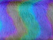 RAINBOW WAVE - Stunning multi colour faux fur fabric - colorful - furaddiction