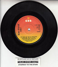 """BLUE OYSTER CULT  We Gotta Get Out Of This Place 7"""" 45 rpm vinyl record RARE!"""