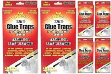 6 PACK JUMBO SIZE Disposable Glue Traps for Mice Rats Mouse Super Stick Tray LOT