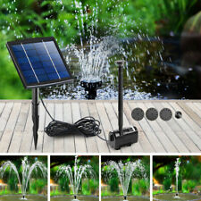 Solar Power Fountain Water Pump Submersible Fish Pond Garden Kit Panel 200L/H