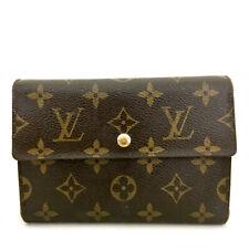 Louis Vuitton Monogram Porte Tresor Etui Papiers Trifold Wallet /A0110