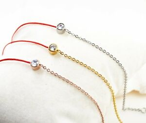 Lucky Red Line Cord Double Chain Bracelet Women Lucky Rope Double Chain 18KGP